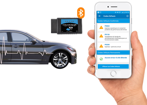 find the car breakdown using a mobile app